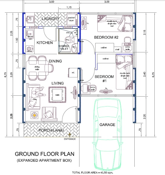 Tiny apartment design plans interior design ideas for for Apartment type house plans philippines