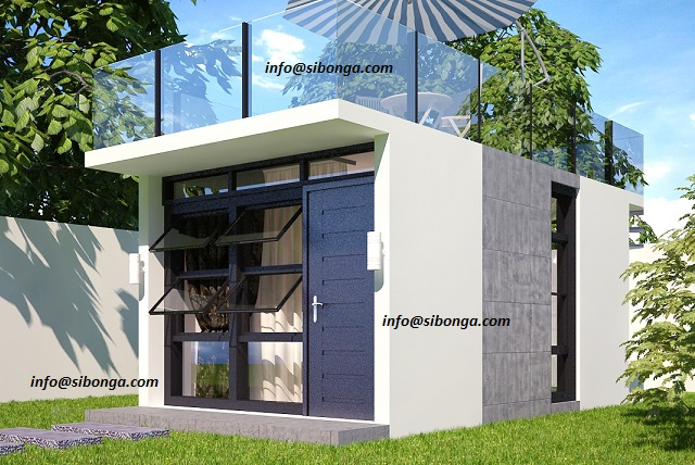 Affordable waffle box house protection against typhoon for Minimalist house design in malaysia